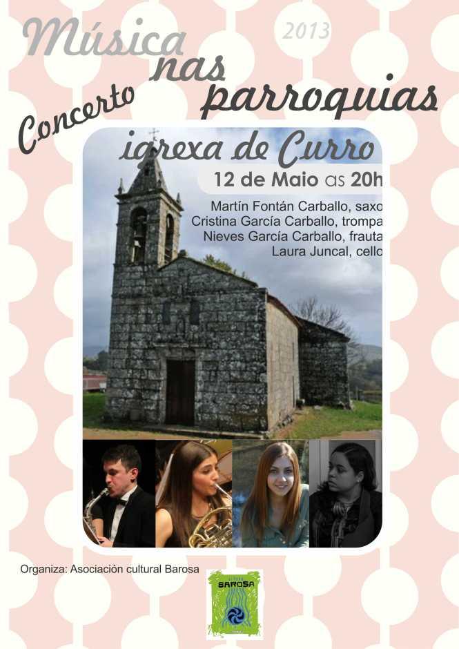 cartel musica nas parroquias 2013 curro