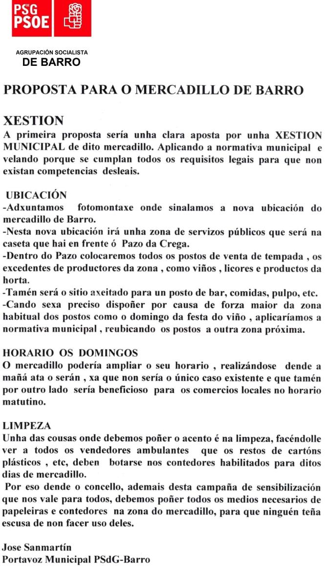 carta PSOE