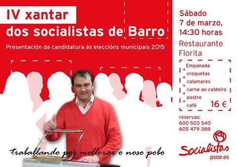 XANTAR SOCIALISTAS DE BARRO
