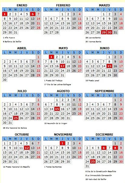 calendario laboral barro 2018
